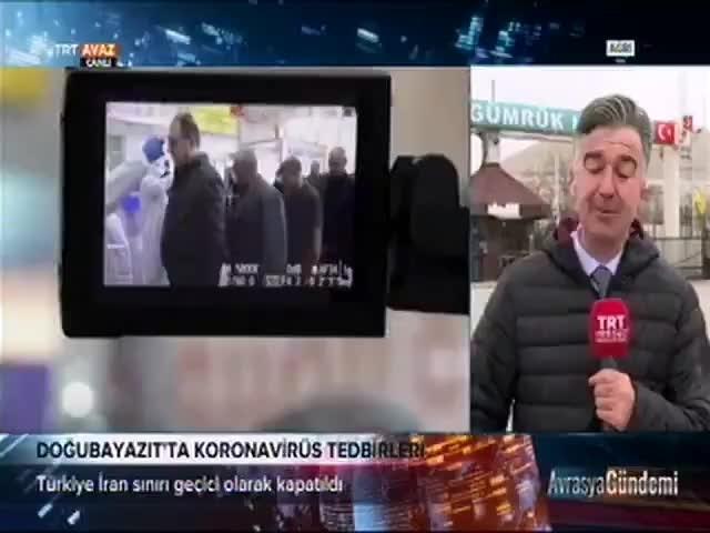 TRT muhabirinin suratına poşet yapıştı! İşte o anlar