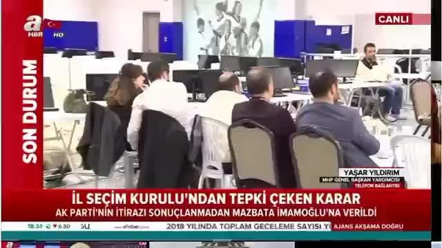 A Haberde canlı yayına bağlanan MHP Genel Başkan Yardımcısı Yaşar Yıldırım, CHP'nin asıl hedefi Demokrasi'yi getirmek! Buna müsade etmemek gerekir!