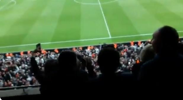 Beşiktaş tribünlerinden 'Mazbatayı ver mazbatayı ver, İmamoğlu'na mazbatayı ver' tezahüratları