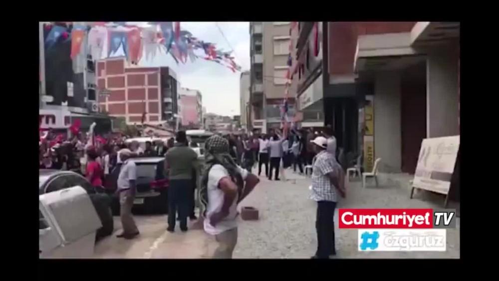 AKP ve MHP'lilerden Muharrem İnce'ye saldırı girişimi!