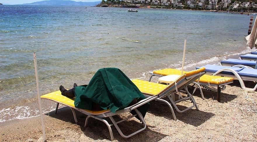 Bodrum'da sahile vurdu, denize giren turistler şoke oldu!
