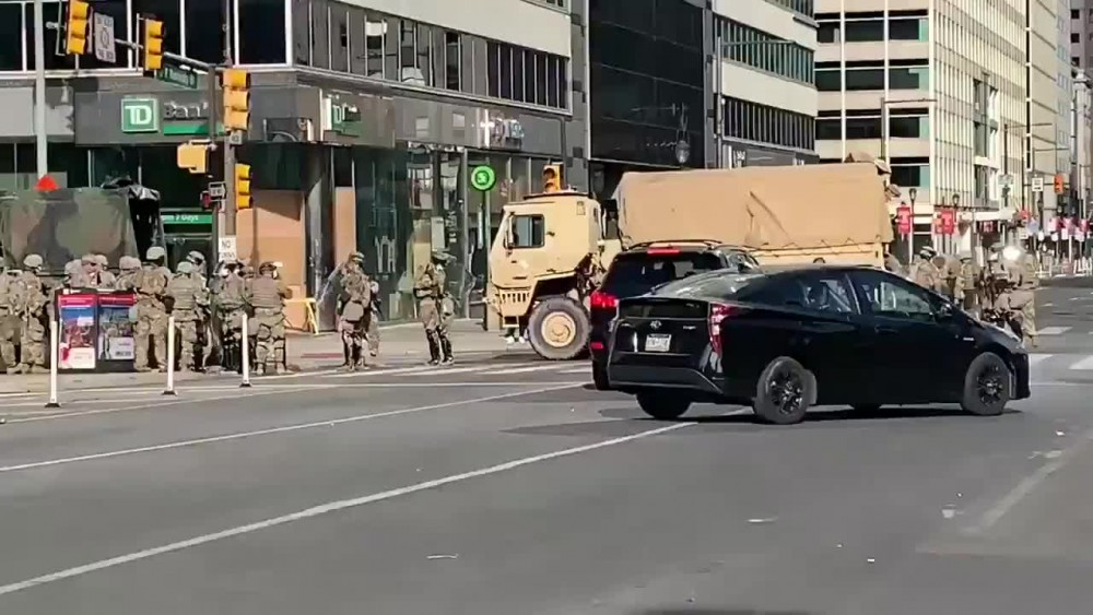ABD ordusu sokağa indi!