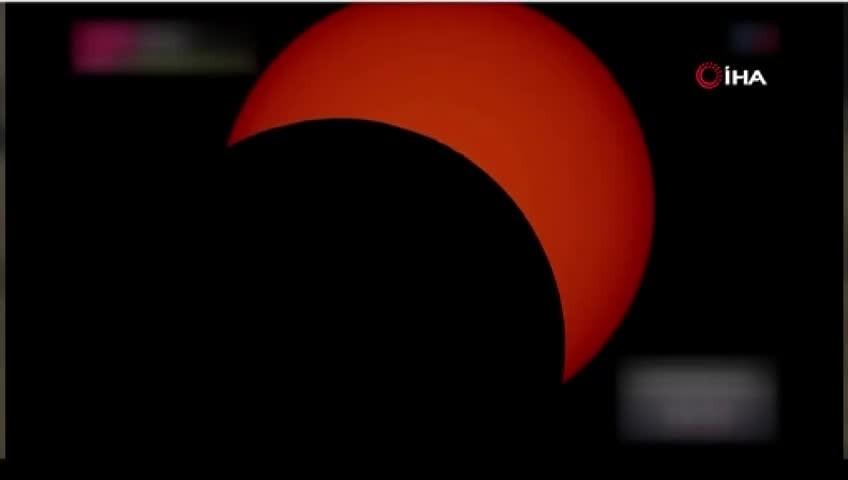 Dünya güneş tutulmasına kilitlendi.. İşte o anlar