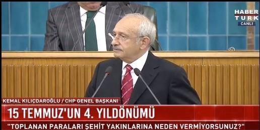 Kılıçdaroğlu: 15 Temmuz'un perde arkası ortaya çıkmasın diye...