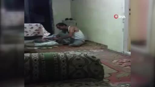 Elazığ'da bir kişi yatalak annesine işkence etti! İşte o kan donduran anlar