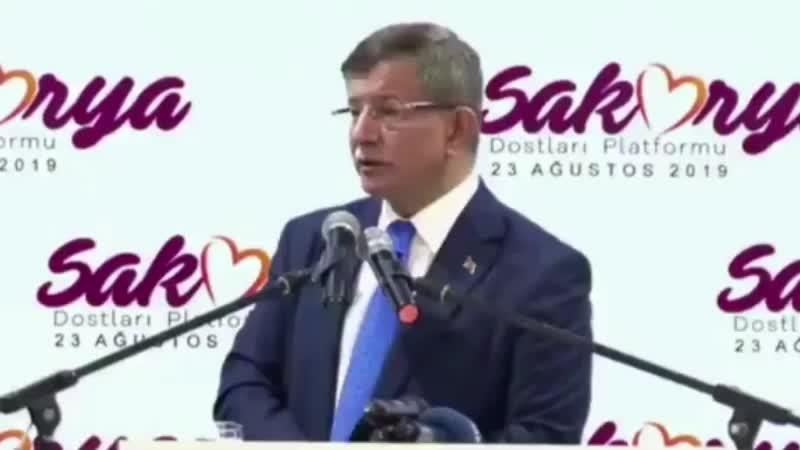 Ahmet Davutoğlu, Erdoğan'a meydan okudu: Konuşursam kimse insan içine çıkamaz!