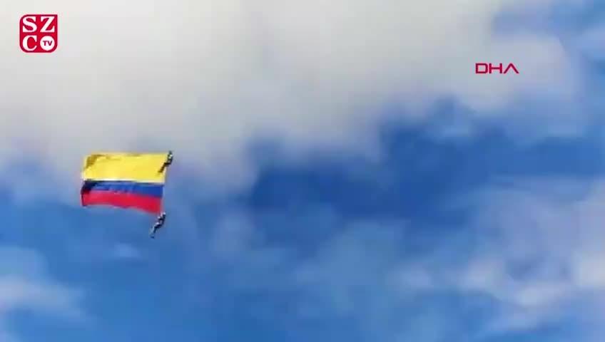 Kolombiya'da korkunç olay: Halat koptu askerler yere çakıldı