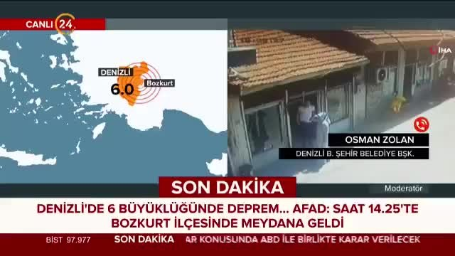 Denizli Belediye Başkanı Zolan'dan deprem açıklaması