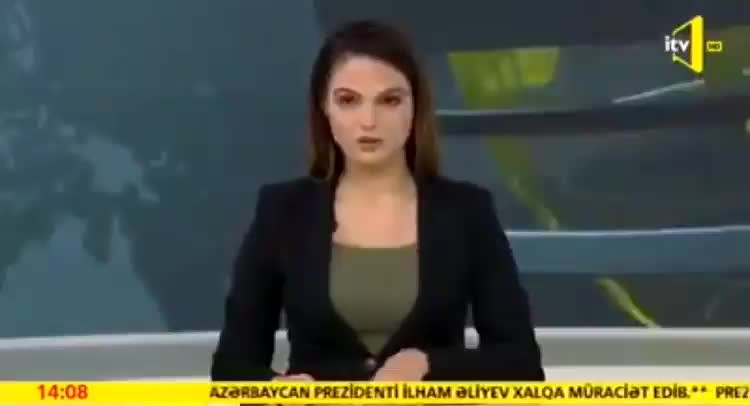 Azerbaycanlı spiker ağlayarak müjdeyi verdi